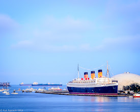 Photo: Queen Mary before sunset on Fourth of July 2014