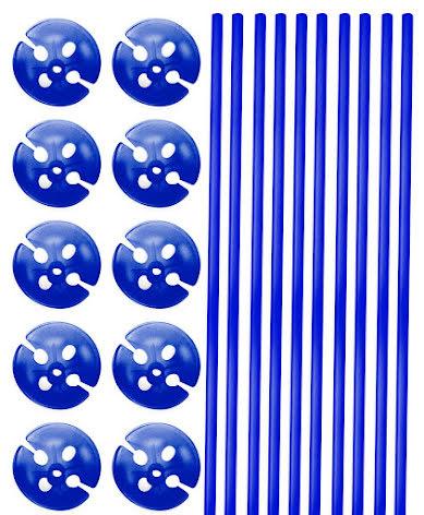 Ballongpinne, Blå 10st
