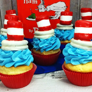Cat in the Hat Cupcakes.