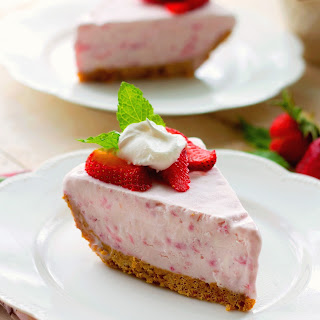 Frozen Strawberry Cream Pie.