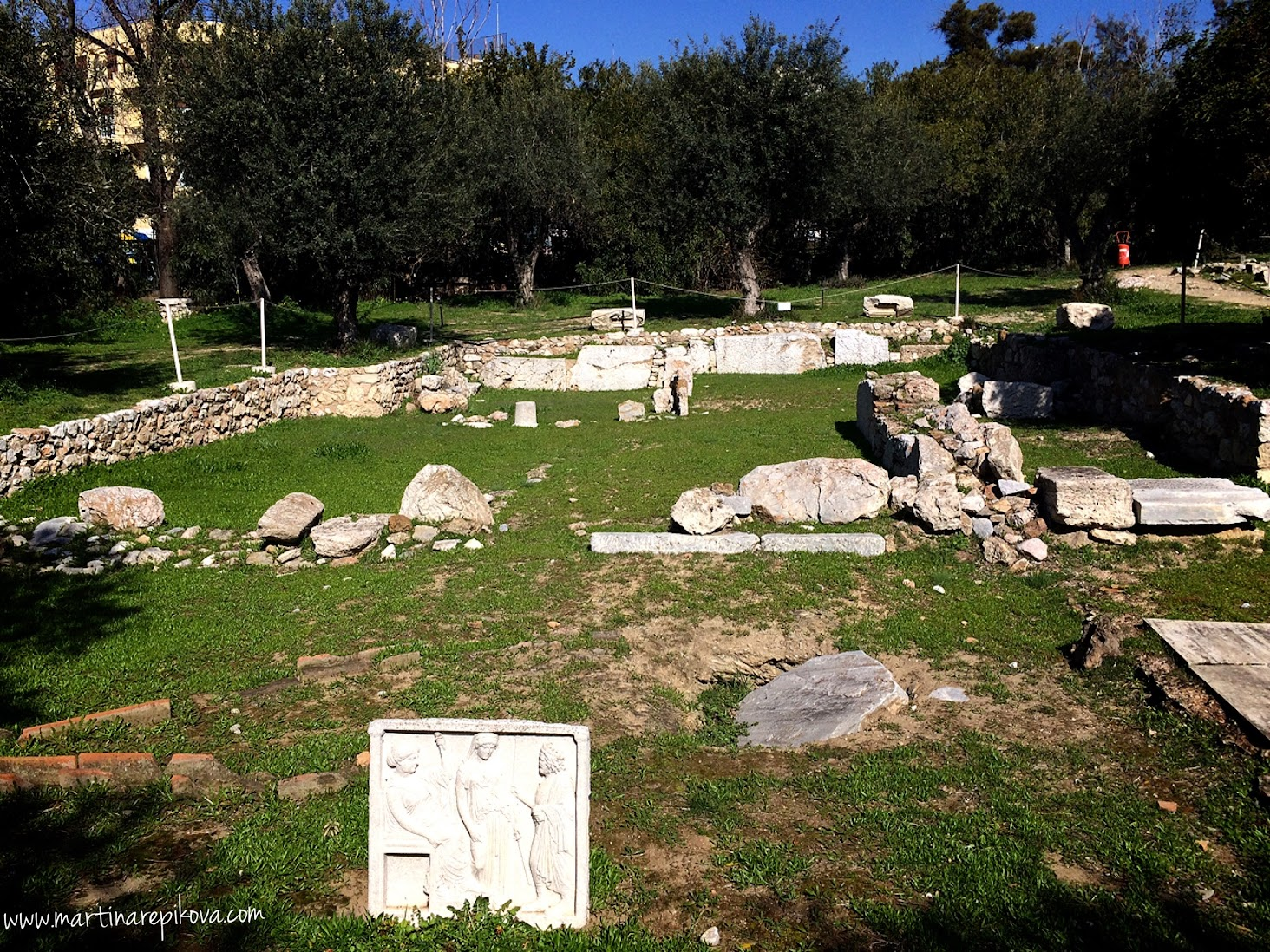 Ruins of Roman house at Temple of Olympian Zeus, Athens, Greece