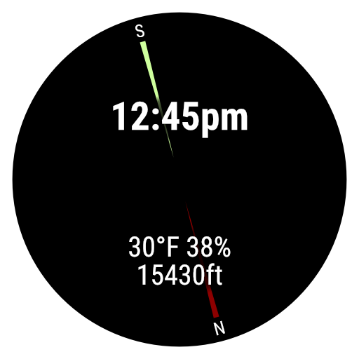 Altitudial Compass Watch Face