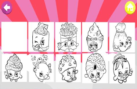 Art Games Shopkins Coloring Page Screenshot Thumbnail