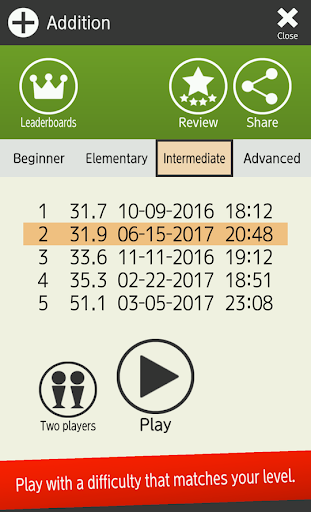 Mental arithmetic (Math, Brain Training Apps) 1.5.4 screenshots 12