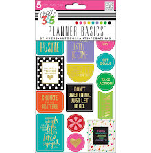 Me & My Big Ideas Happy Planner Stickers 5 Sheets/Pkg - Bright Hustle