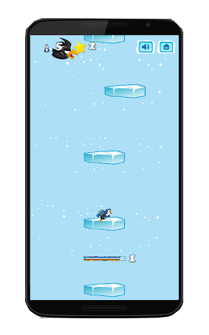 android Pinguin-Kampf springen Screenshot 1