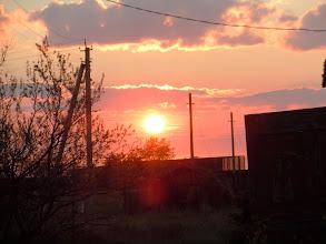 Photo: Sunrise at the field station in outside Karasuk