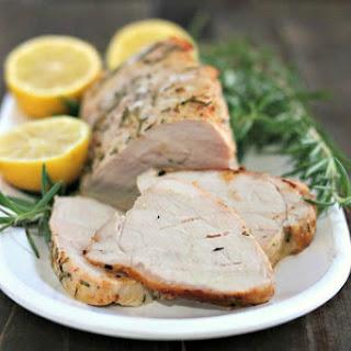 Lemon Rosemary Pork Tenderloin.