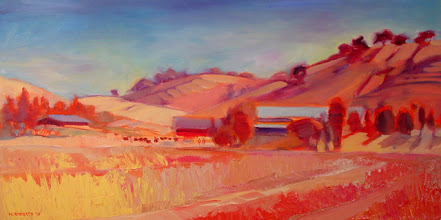 Photo: Round Valley Summer, oil on canvas by Nancy Roberts, copyright 2014. Private collection.