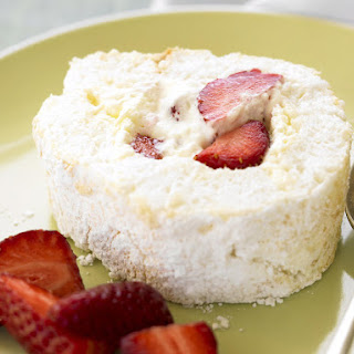 Coconut Pavlova Roll with Strawberries