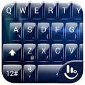 Keyboard Theme Glass Blue icon
