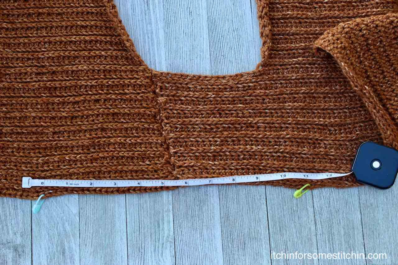 Easy Knit look Crochet Sweater Pattern by www.itchinforsomestitchin.com