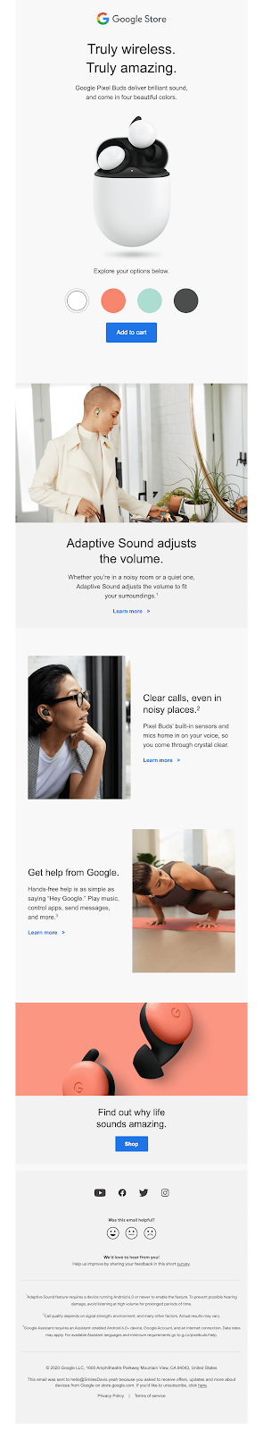 negative space email template
