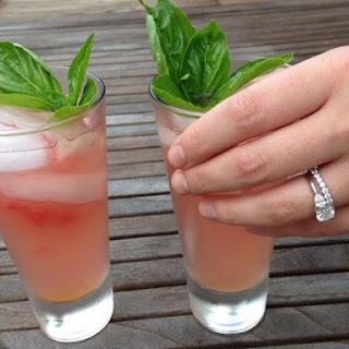 Lemon-Basil Watermelon Cocktail