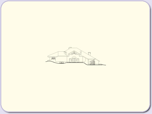 Almandyn - Elewacja tylna