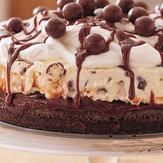 Chocolate Malt Ice-Cream Cake.