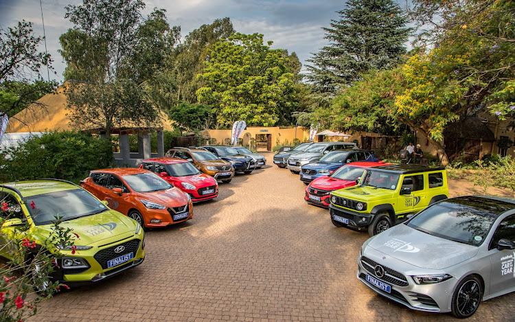 The 12 finalists in the 2019 Autotrader SA Car of the Year competition. Picture: SUPPLIED