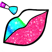 Rainbow Lips Coloring Book Glitter - Beauty Game