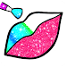 Rainbow Lips Coloring Book Glitter - Beauty Game icon