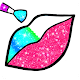 Rainbow Lips Coloring Book Glitter - Beauty Game APK
