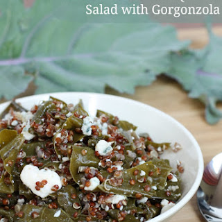 Russian Kale and Red Quinoa Salad with Gorgonzola | Easy Gluten-Free