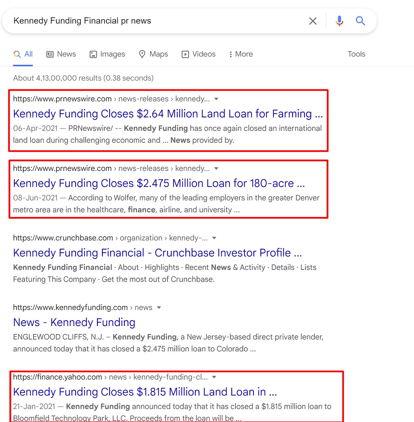 Kennedy Funding Financial news