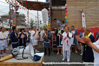 Photo: 【平成20年(2008) 本宮】  大当番による三本締め。渡御を開始。