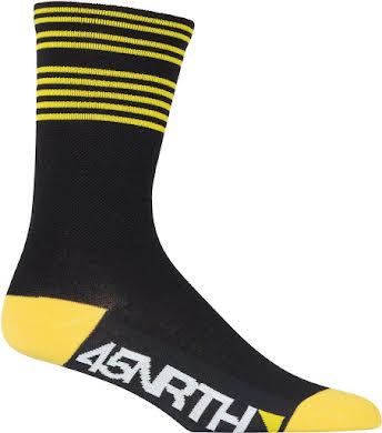 45NRTH Lightweight Sock - Citron Stripes alternate image 1
