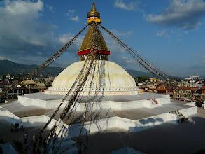 Photo: Die Boudha Stupa in Kathmandu zieht uns immer wieder magisch an.