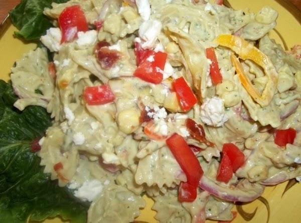 Farfalle W/ Roasted Corn & Avacado Dressing Recipe