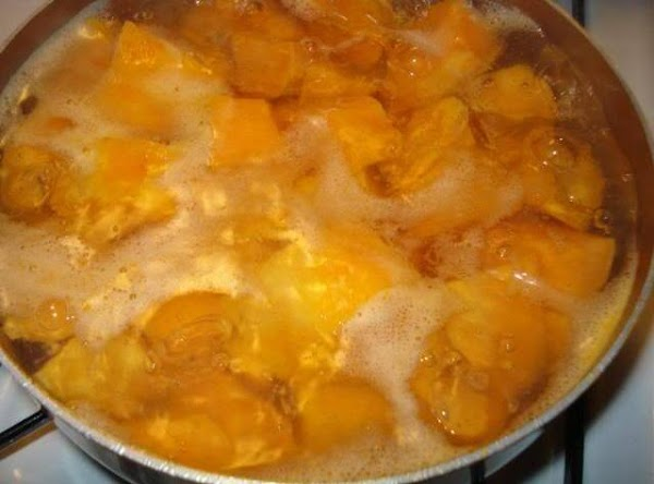 Drain the water off the sweet potatoes and then place them in large bowl....