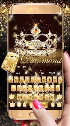 Gold diamond crown Keyboard Theme 10001012 screenshots 4