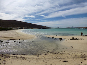 Photo: Pichilingue Bay - Our departing point North of La Paz..