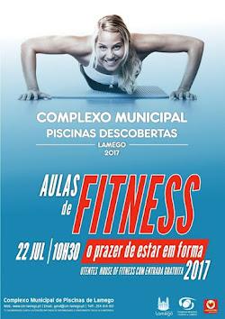 Aulas de fitness gratuitas nas Piscinas Descobertas