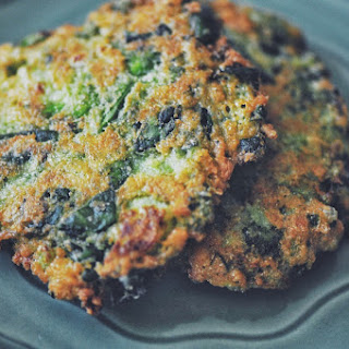 Serrano-Broccoli-Spinach Fritters