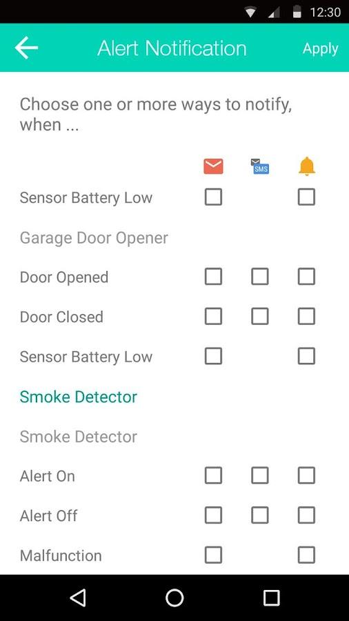 Garage Door Monitor Android Midoor Internet Garage Door