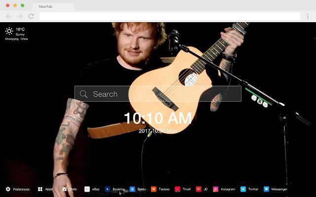 Ed Sheeran Pop Star HD New Tabs Theme