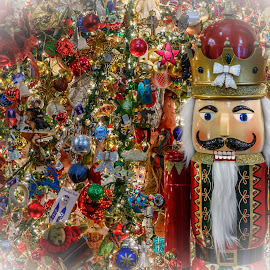 Mansion on O - 2018 Lobby Christmas Tree by Gary Stanley - Public Holidays Christmas ( mansion on o street, district of columbia, 24-70mm, christmas tree, christmas spirit, ornaments, nikon z7, christmas lights, washington, christmas, nutcracker, dc )