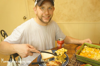 Photo: My husband was ready to eat after a long day at work!