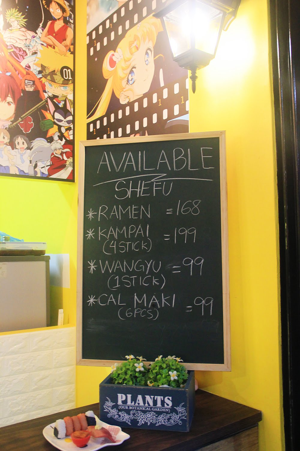 Shefu Kid Anime Street Food Menu