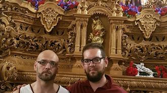Juan Andrés García (izquierda), junto a su hermano Jesús Francisco, que será uno de los auxiliares.