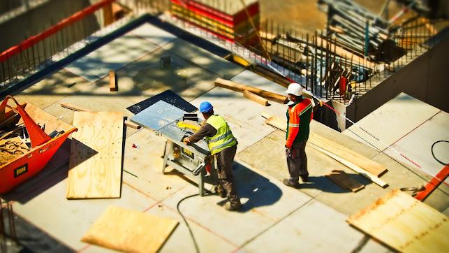 Trabajadores de la construcción, durante su jornada.