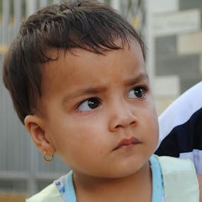Where's mom?? by Pramesh Pokharel - Babies & Children Children Candids ( girl, search, eyes )