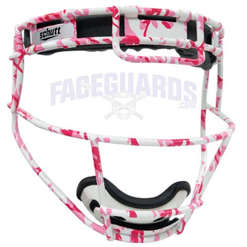Schutt Custom Pink Marble White Face Guard