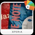 XPERIA™ Blue Note Story Theme icon