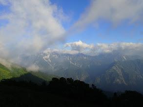 左から立山・別山・剱岳など