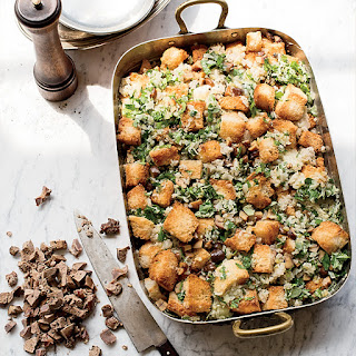 Mushroom-and-Chestnut Stuffing with Giblets.