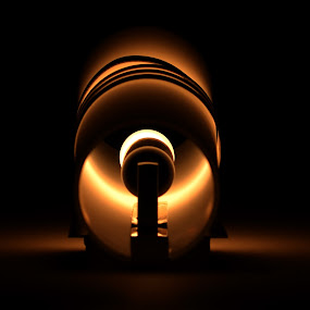 Approaching towards darkness by Souvik Nandi - Artistic Objects Other Objects ( lamp shade, silhouette, dark, lamp, light )