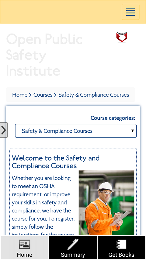 Open Public Safety Institute- screenshot