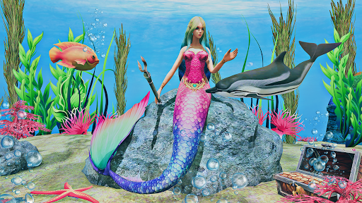 Mermaid Simulator 3D - Sea Animal Attack Games screenshots apkspray 4